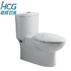 HCG和成卫浴马桶坐便器 和成C4720单体节水马桶喷射虹吸式落地式