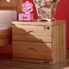 全友 松木 青少年 床头柜 60302