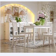 全友家私 餐厅家具 88801 浅象牙白 餐椅