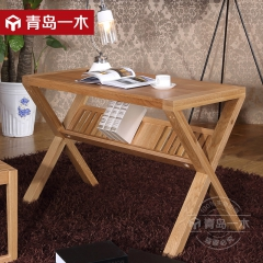 青岛一木 北欧系列 全实木 橡木书桌
