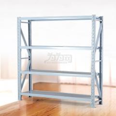 欣瑞源 金属家用货架 层架仓库中型重型置物架 展示架2878 白色 200*30*200cm=4层