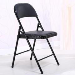欣瑞源 电脑椅 办公家用会议座椅 休闲靠背椅 双色可选 黑色 折叠椅