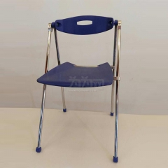 欣瑞源 電腦椅 辦公家用會議座椅 休閑靠背椅 雙色可選 藍色 折疊椅