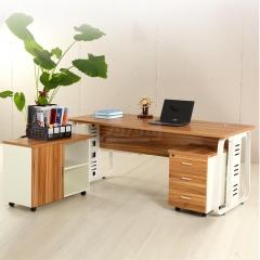 欣瑞源 简约单人办公桌 板式主管桌 2798 长220cm 宽90cm 高75cm