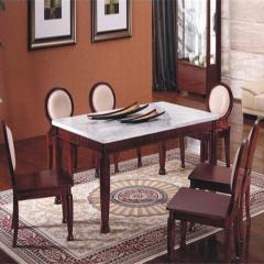 全友 餐厅 大理石 餐台椅(1桌4椅) 85501