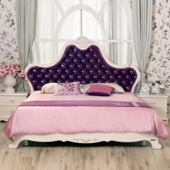 全友 时尚 卧室家具 法式1.8米大床 双人床 65903