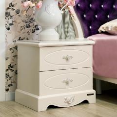 全友家居 时尚卧室家具法式 罗曼尼玫瑰系列 床头柜 65903