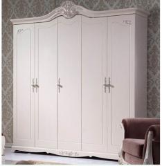 全友 成人卧房 65903 白色 大五门衣柜