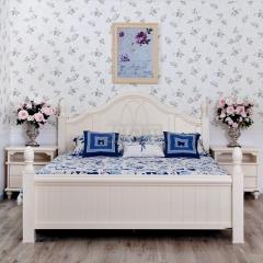 全友家私 臥室 白色 韓式 田園 公主 雙人 81706-1 1.5X2m床