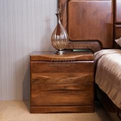 双喜 胡桃木 床头柜 H002