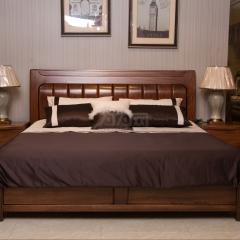 双喜 胡桃木 高箱床 H010