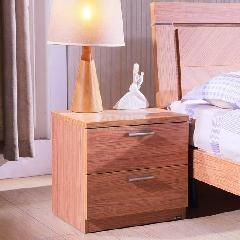 东方百盛胡桃木色中式床头柜906