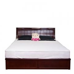 傲吉 栾叶苏木 汽缸床 实木 1.8米 高箱床 双人床 908