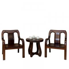 美诚美诺 客厅家具 油楠木 休闲桌椅 休闲椅 D114 如图色