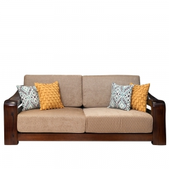 美诚美诺 客厅 油楠木 沙发组合 三人沙发 D135