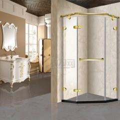 鼎豪淋浴房 金色鉆石型開門 K-A603 平方米