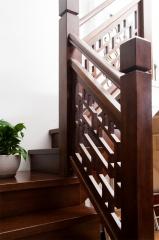 亿连楼梯 实木中式楼梯 定制楼梯 复式楼梯 柚木色 1踏步