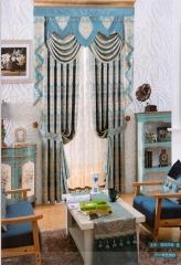 蒂思 客廳臥室 簡歐風格 高精密 窗簾 B2-56 孔雀藍 高2.8米 寬1米