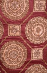 蒂思 客廳臥室 簡歐風格 高精密 窗簾 B2-67 383-1 紅 高2.8米 寬1米