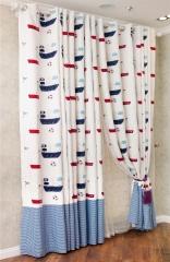 蒂思 客廳臥室 貼布 個性 韓式繡花 兒童窗簾 貼布窗簾 寬1.5米 高1米