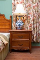 邑美 格林小鎮 白橡木+橡膠木 床頭柜 GL-1203