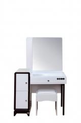 宝莱佳 实木生态板 卧室 红橡木 梳妆台 含凳 1E16