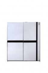 宝莱佳 实木生态板 卧室 红橡木 移门衣柜 1E02