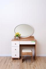 宝莱佳 实木生态板 简约现代卧室 小户型 梳妆台 化妆台带凳 2M02