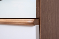宝莱佳 实木生态板 餐厅 白蜡木餐柜 2M01