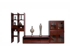 瑞丰怡嘉810-2 奥克榄 非洲红胡桃木 厅柜 矮柜 装饰柜