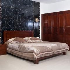 瑞豐怡嘉802-7奧克欖 非洲紅胡桃木 高箱不落地床 1.8米