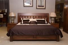 雙喜 胡桃木 高箱床 H010