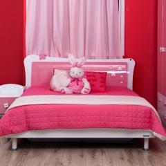 全友 青少年 儿童 卧房 粉色公主 女孩床 6702A 1.5*2米床