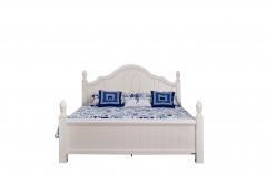 全友家私 卧室 白色 韩式 田园 公主 双人 81706-1 1.8X2m床