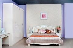 全友家私 维也纳系列 简约 双人 法式 88003-1 白色 1.8X2m床