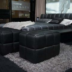 英伦高尔夫 小皮凳 牛皮 实木 床前凳 床尾凳 K209