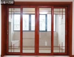 巴比斯中空移门滑门 厨房移门铝合金推拉门 钛镁合金 定制
