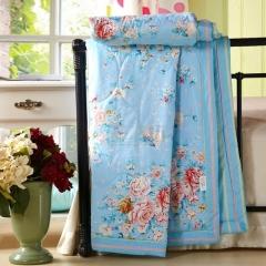 瀚庭 全棉 夏凉被 空调被 爱丽丝 蓝色 1.5x2.0m