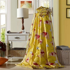 瀚庭 全棉夏凉被 空调被 维尼宝贝 黄色 1.5x2.0m