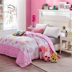 瀚庭 全棉夏凉被 空调被 趣味空间 玫粉色 1.5x2.0m