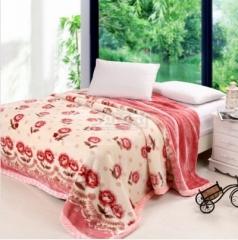瀚庭 拉舍尔毛毯 粉色记忆