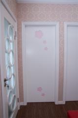 昆榕木门 温馨 白色烤漆 实木复合门 kr-435