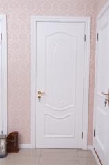 昆榕木门 欧式贵族 白色烤漆 实木复合门 kr-615