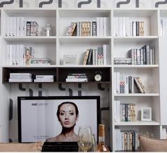 宜科家具 全屋定制 白布纹电视柜&高分子板开门