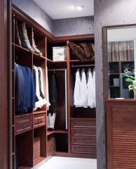 宜科全屋定制家具 定制整体衣柜 红橡木衣帽间