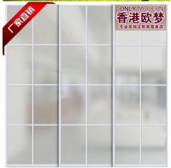 香港欧梦 玉砂玻璃 只限银色框 隔断门 玻璃门 厨卫门 阳台玻璃门
