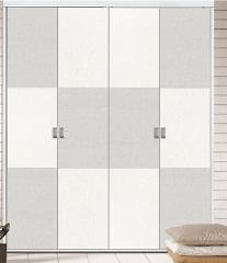 拉迷移门 B758白布纹欧式板F-78白布纹夹立体暖白开门
