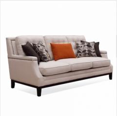 斐亨外贸家具折扣 布艺沙发 进口实木 随心搭配 KS2159三人位