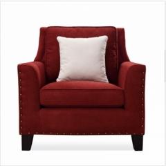 斐亨外贸家具折扣 布艺沙发 进口实木 随心搭配 ks2166单人位