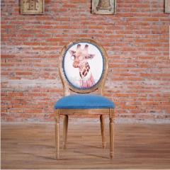 斐亨家居 美式餐桌椅 橡木抽拉餐桌 软包单背椅